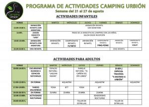 CARTEL ACTIVIDADES SEMANA 21 al 27 agosto