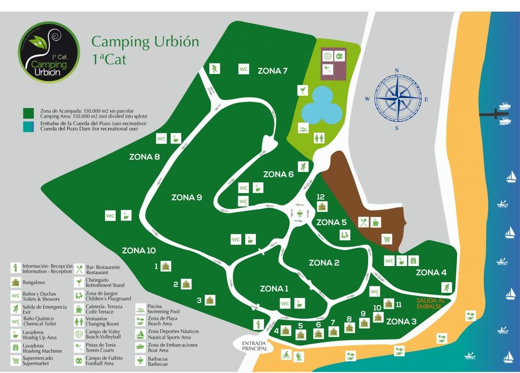 Plano camping urbion