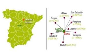 mapa camping urbion