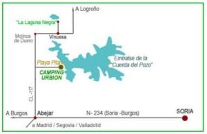 mapa camping urbion 2
