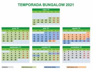 CALNDARIO-TEMPORADA-CAMPING-URBION-2021-BUNGALOW