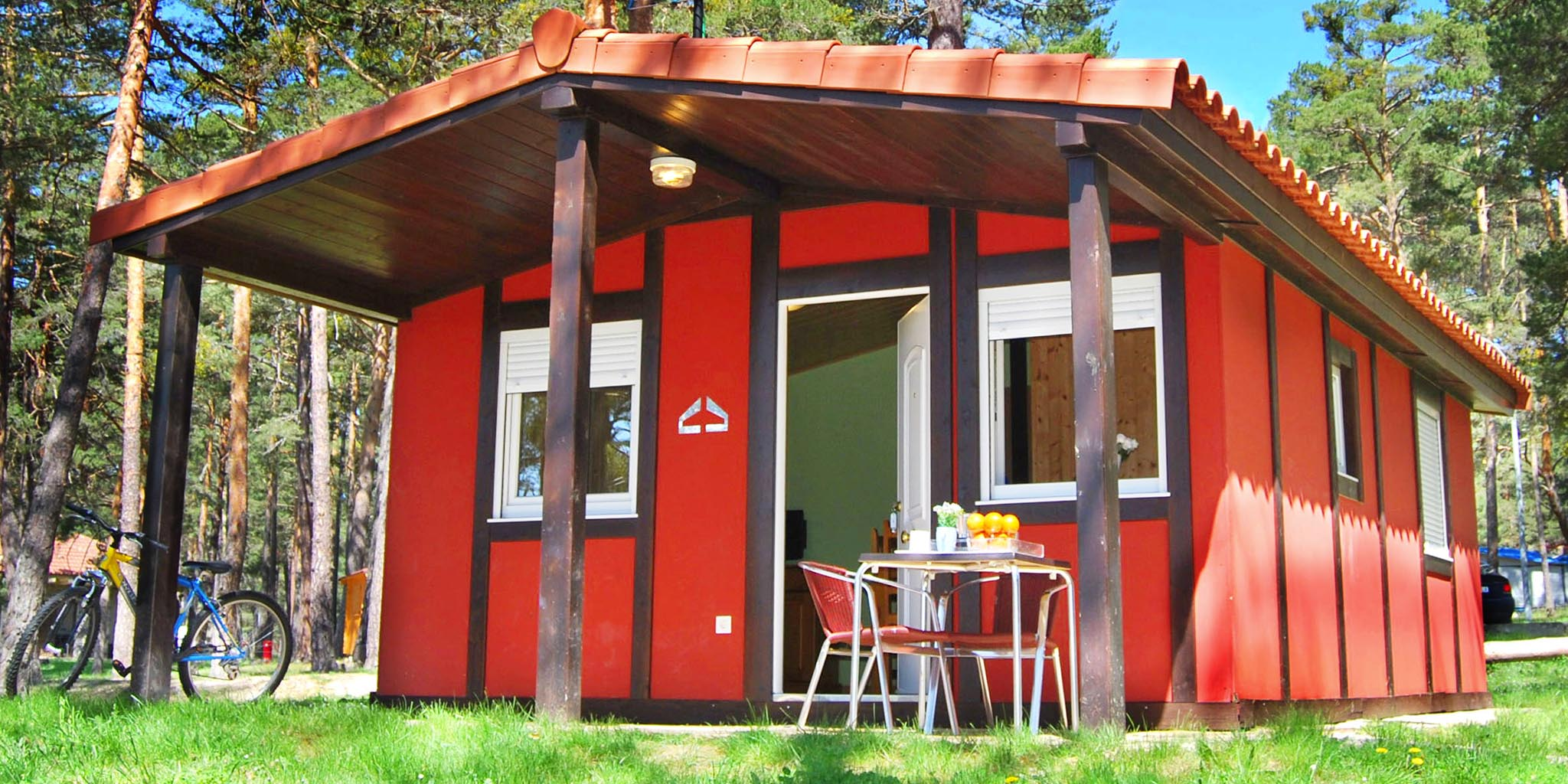 bungalow maravilla camping soria urbion vistas embalse