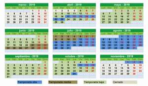 calendario-temporada-2019 camping urbion soria