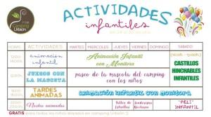 PROGRAMA DE ACTIVIDADES PARA LA ÚLTIMA SEMANA DE JULIO