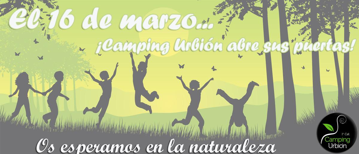 CAMPING URBIÓN ABRE EL PROXIMO 16 DE MARZO