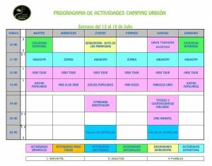 ACTIVIDADES-CAMPING-URBION VERANO