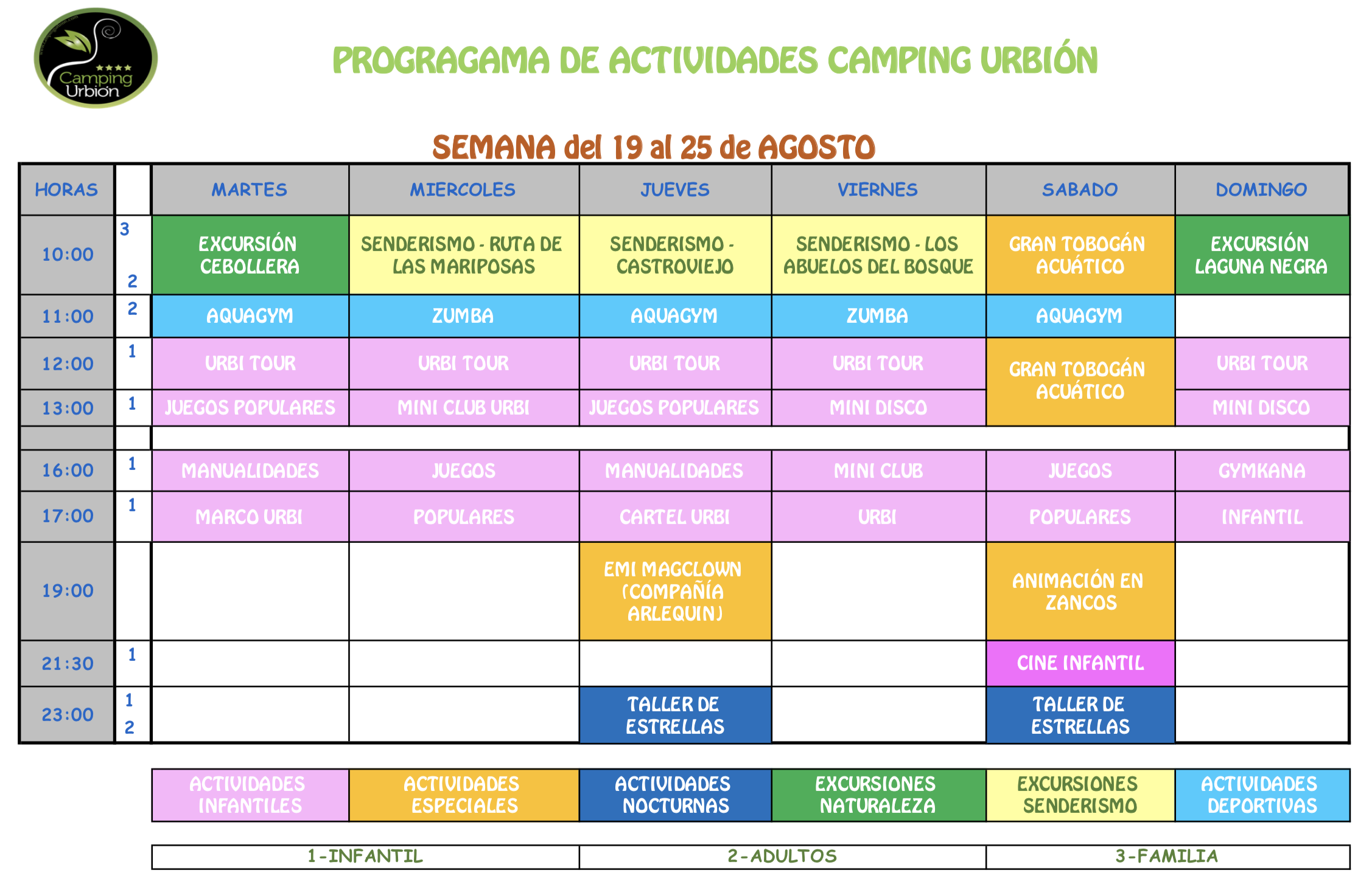 ACTIVIDADES VERANO CAMPING URBION 2