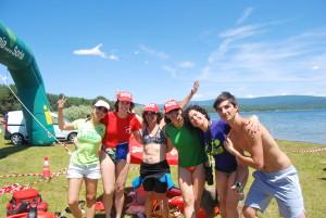 Travesía nado embalse Soria camping Urbion