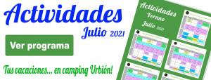ACTIVIDADES JULIO BANNER CAMPING URBION